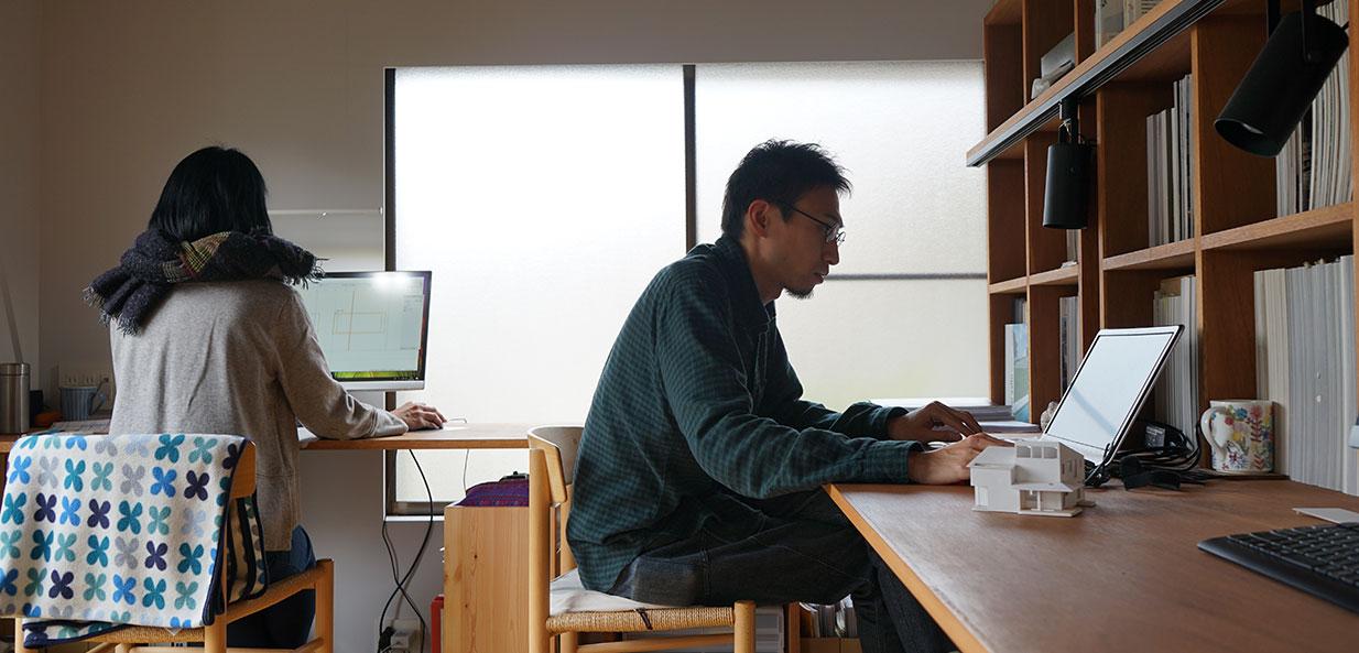 設計事務所で働く卒業生
