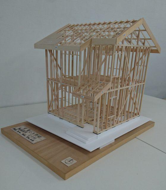 一年生 木造軸組模型 製作