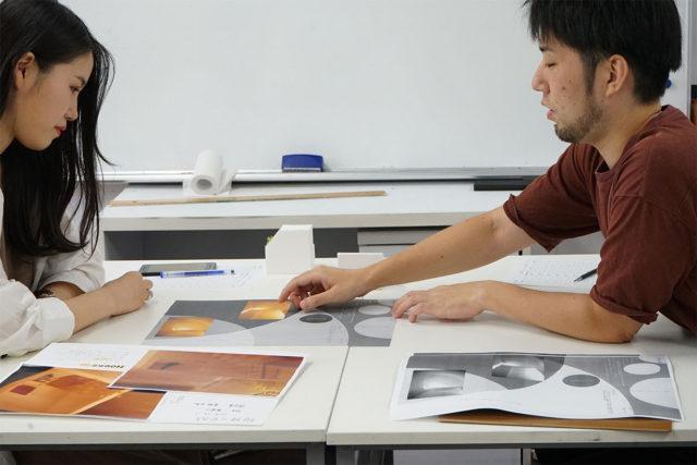 設計課題 授業風景