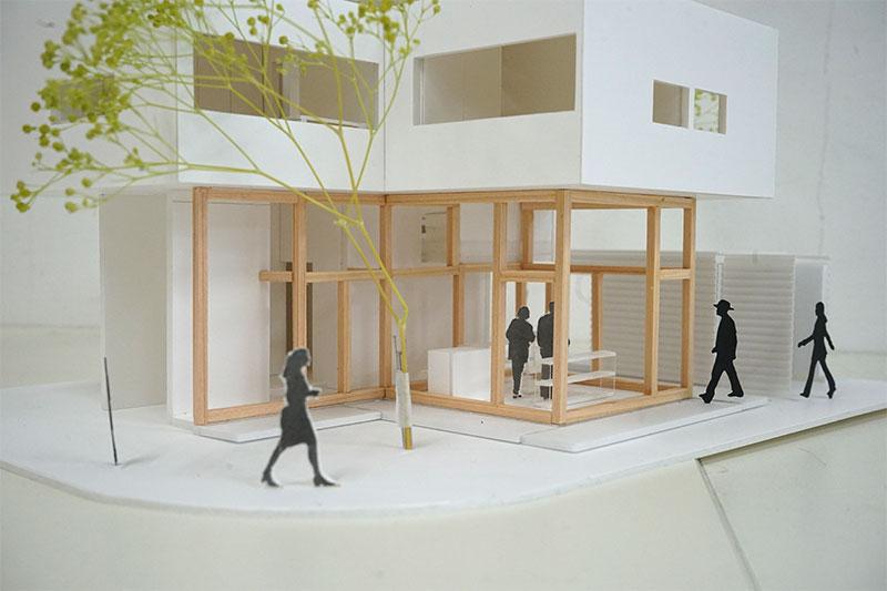 建築学生 建築模型